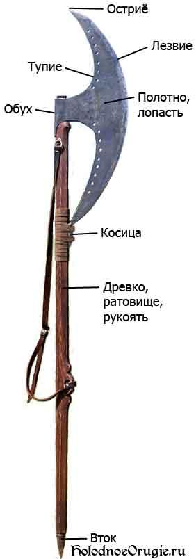 Составные части бердыша